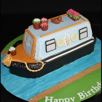 adults canal barge cake